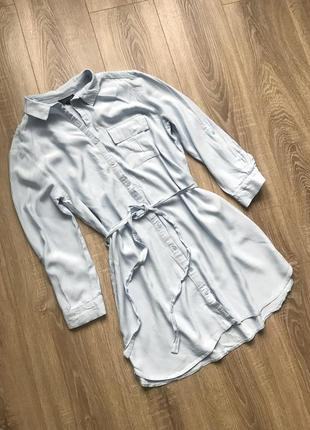 Голубое платье-рубашка topshop1