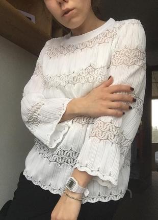 Белая кофта рубашка