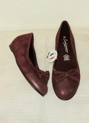 Замшевые французские туфельки, р 37