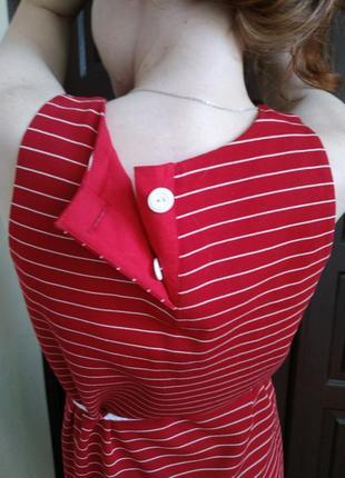 Красное платье-тельняшка3
