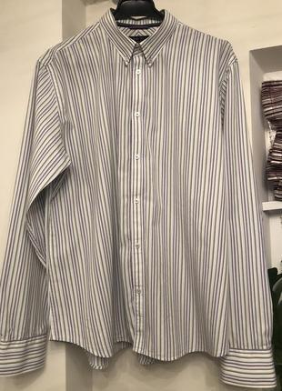 Классическая мужская рубашка в полоску