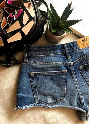 Крутые джинсовые шорты на высокой посадке с необработанными краями river island4