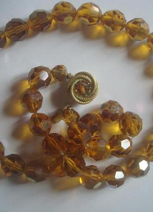 Бусы/ожерелье чехословакия винтаж1