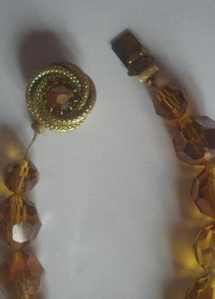 Бусы/ожерелье чехословакия винтаж4