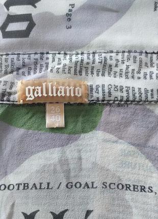 John galliano (s-xs) italy шелковая рубашка (оригинал)4