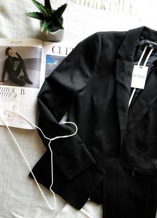 Идеальный чёрный блейзер от next пиджак