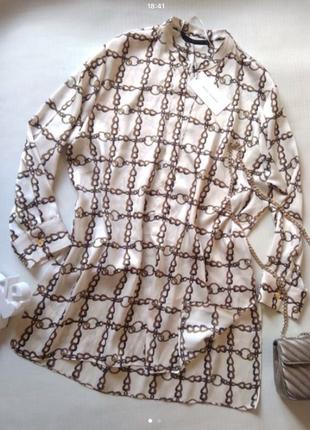 Шикарная блузка-туника zara1
