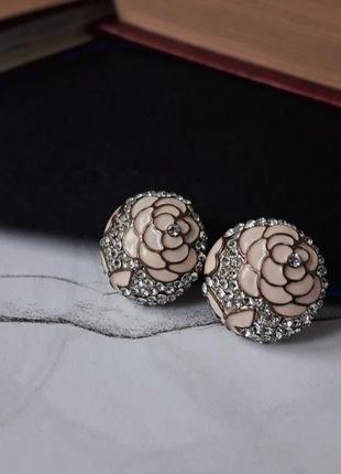 Замечательные круглые сережки1