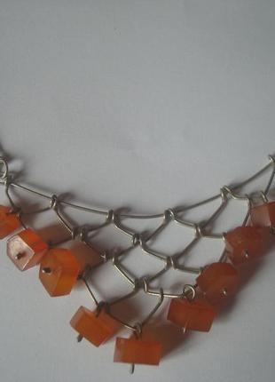 Бусы/ожерелье/подвеска янтарь винтаж1