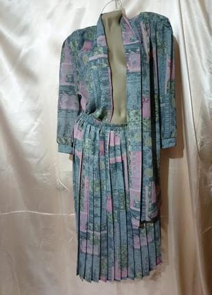 Костюм блуза и юбка плиссировка1