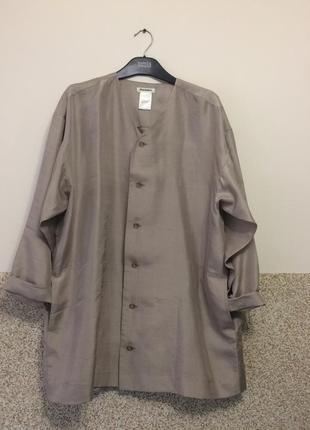 Винтажный шелковый  чесучи пиджак ,кардиган ,накидка оверсайз1