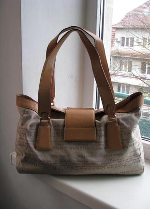 Комбинированная сумка calvin klein1
