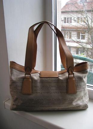 Комбинированная сумка calvin klein2