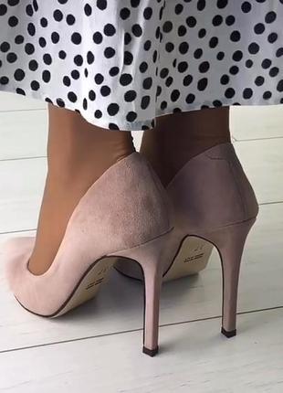 Женские туфли лодочки замшевые на шпильке2