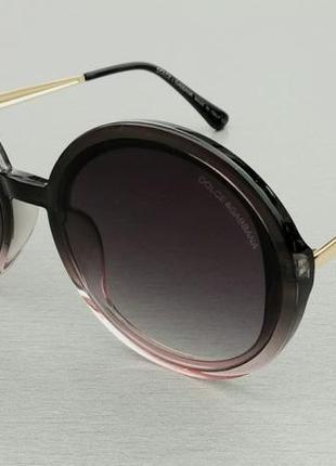 Dolce & gabbana очки женские солнцезащитные круглые4 фото