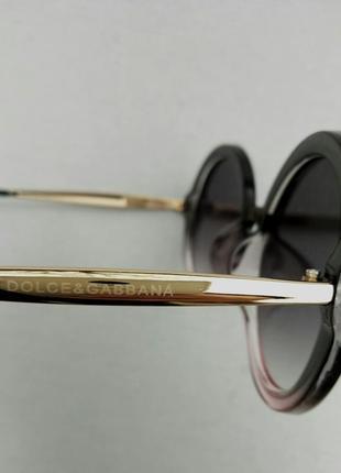 Dolce & gabbana очки женские солнцезащитные круглые9 фото