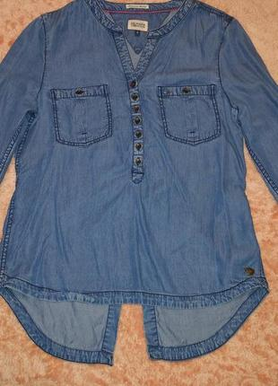 Женская брендовая джинсовая рубашка блуза tommy hilfiger1