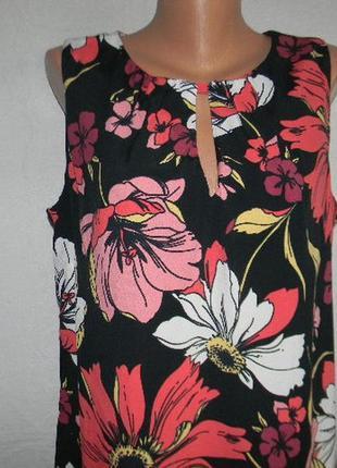 Натуральное легкое платье c цветочным принтом3