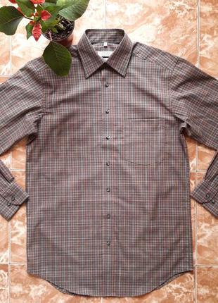 Рубашка в клетку canda (германия),non iron, s.