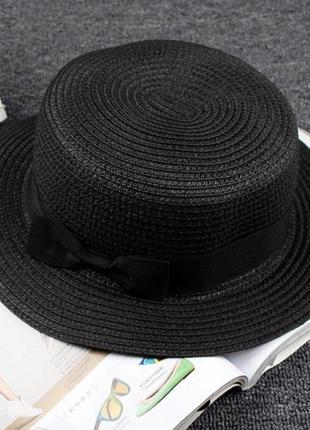 Шляпка канотье женская1