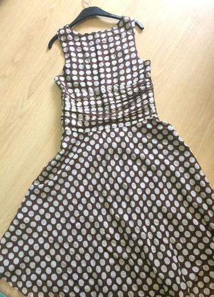 Шикарное платье с шелком в горошек4