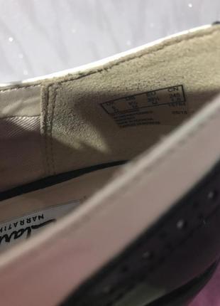 Кожаные лакированные туфли броги оксфорды clarks4