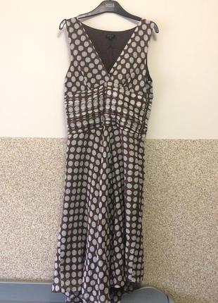Шикарное платье с шелком в горошек7