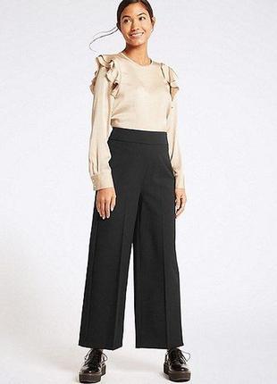 Классические широкие брюки кюлоты палаццо  №16max1