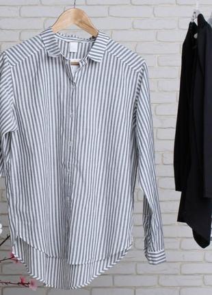 Женская рубашка в полоску h&m. s и m в наличии