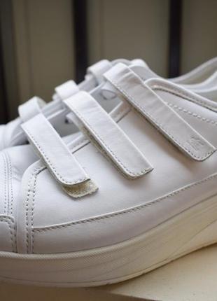 Кожаные туфли мокасины кроссовки на липучках высокая подошва7