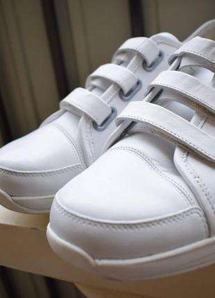Кожаные туфли мокасины кроссовки на липучках высокая подошва9