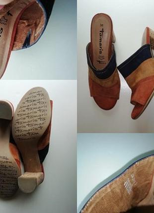 Немецкие босоножки из натуральной кожи на каблуке (пробка)  - 38 р.10