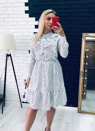 Платье в горошек!в наличии есть разные размера!