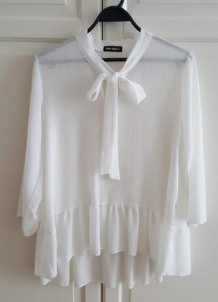 Блуза с бантом и воланами1