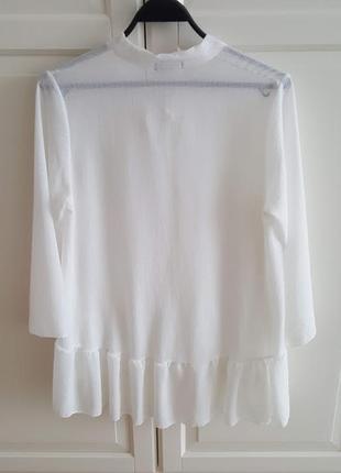 Блуза с бантом и воланами2