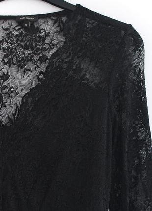 Великолепное кружевное платье river island  • р-р 12\38 - m-l, ближе к l5