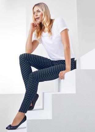 Эластичные брюки до щиколотки тсм tchibo германия, размер 46 европ, 52 наш1