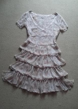 Милейшее романтичное легчайшее платье натуральное р 8 идеальное2