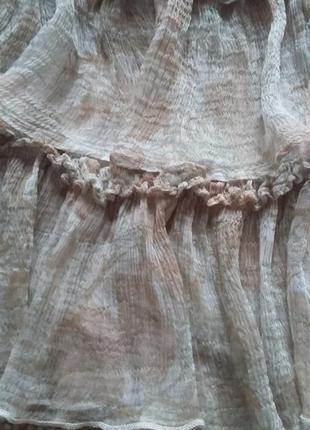 Милейшее романтичное легчайшее платье натуральное р 8 идеальное4