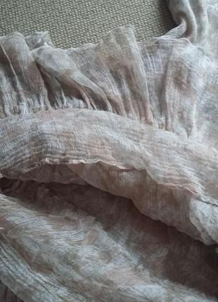 Милейшее романтичное легчайшее платье натуральное р 8 идеальное5