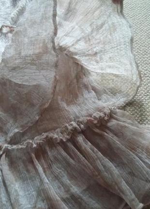 Милейшее романтичное легчайшее платье натуральное р 8 идеальное6