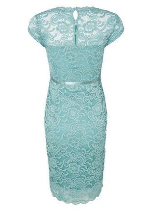Бирюзовое платье миди по колено с кружевом от mama licious, s-m1
