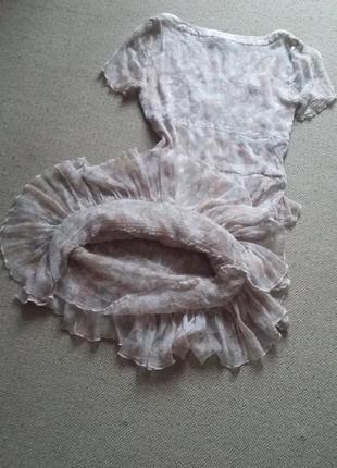 Милейшее романтичное легчайшее платье натуральное р 8 идеальное8
