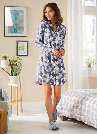 Тёплое домашнее платье туника, халат ночнушка, esmara германия, фланель байка1