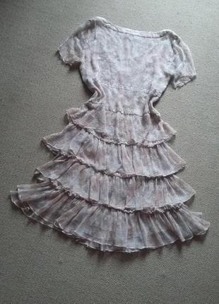Милейшее романтичное легчайшее платье натуральное р 8 идеальное10