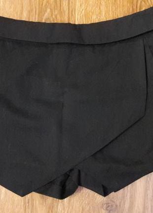 Черные мини шорты-юбка по типу zara2