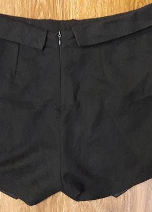 Черные мини шорты-юбка по типу zara3