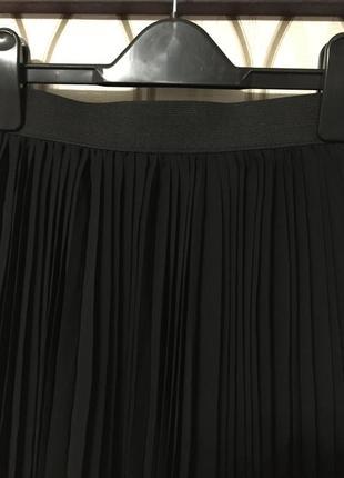 Черная трендовая юбка плиссе new look, новая!2