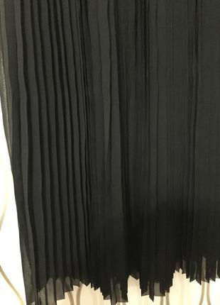 Черная трендовая юбка плиссе new look, новая!3