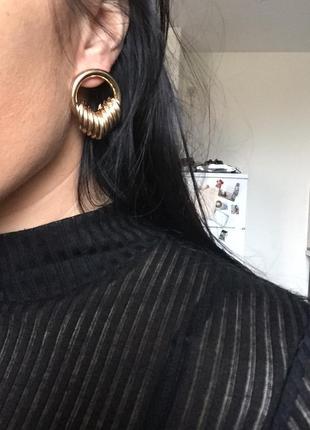 Серьги сережки золото кольца